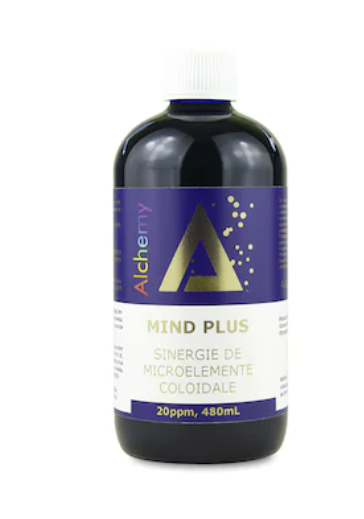 Sinergie de argint, platina si aur coloidal, Mind Plus, 20ppm, 480ml, Aghoras Invent 0