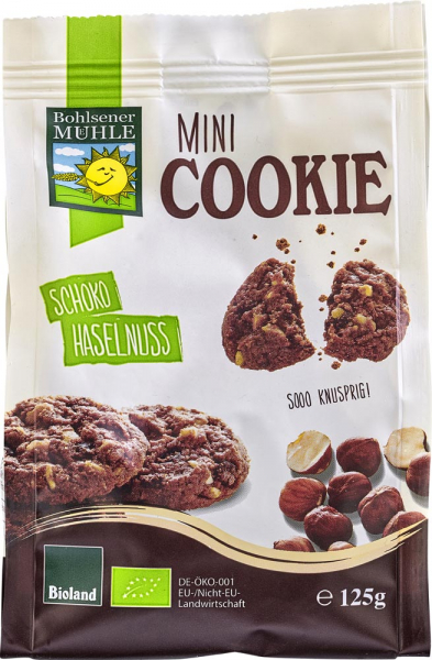 Mini biscuiti cu ciocolata si alune bio 0