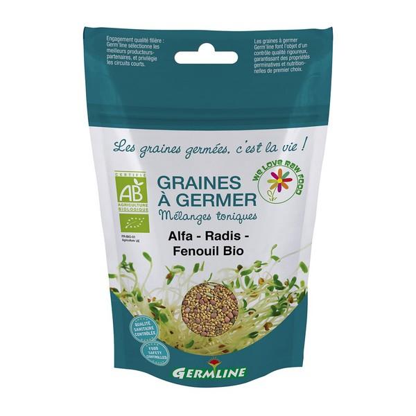 Mix alfalfa, ridiche, fenicul pt. germinat bio 150g 0