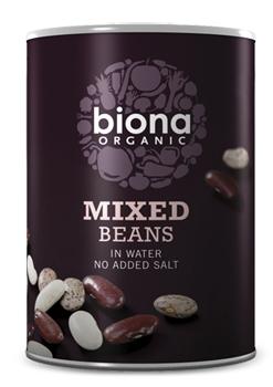 Mix din 3 tipuri de fasole boabe bio 400g Biona 0