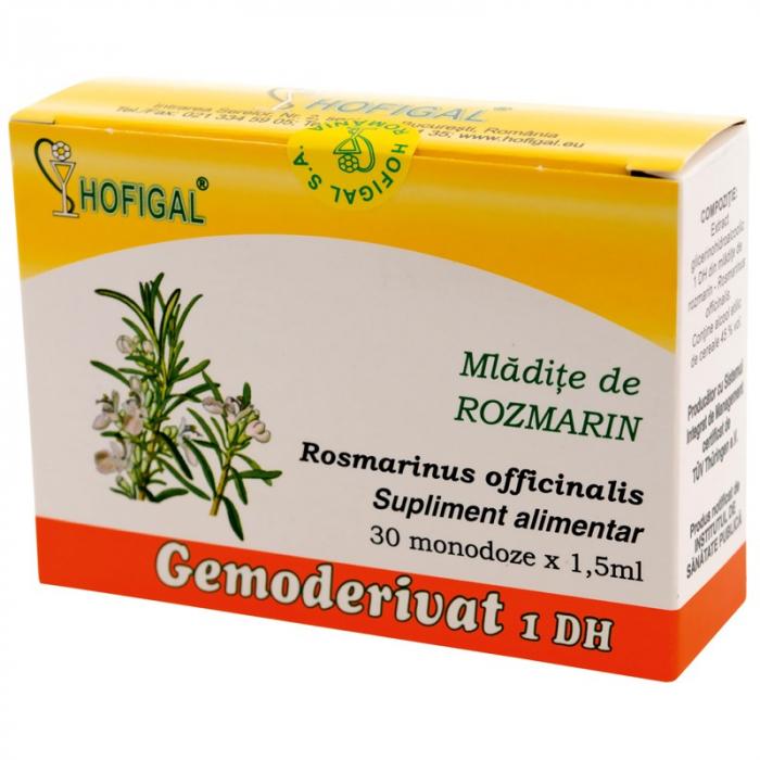 Mlădite de Rozmarin Gemoderivat, 30 monodoze, Hofigal [0]