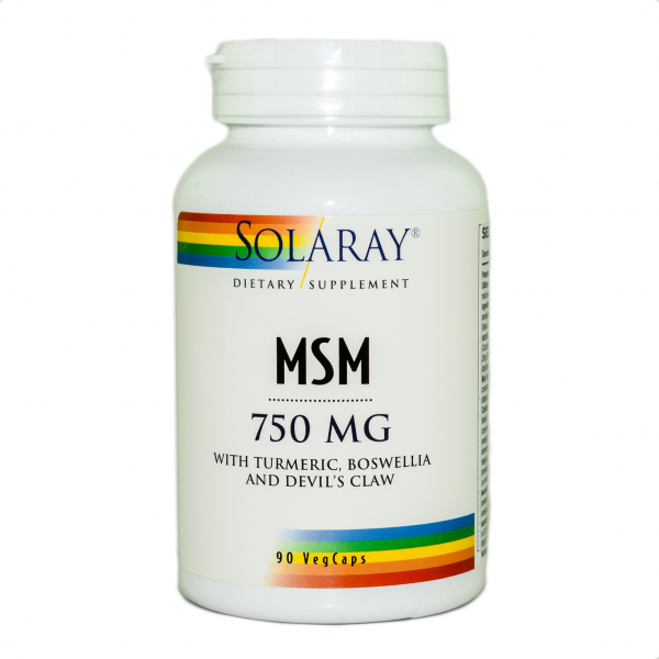 MSM 750 mg Solaray, 90 capsule vegetale, Secom 0