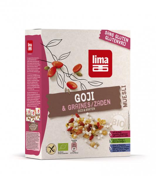 Muesli cu goji fara gluten eco 300g Lima 0