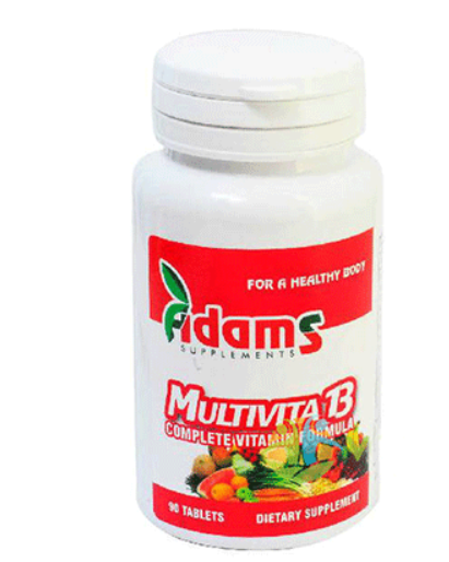 Multivita 13, 30 tablete, Adams Vision 0