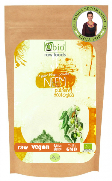 Neem pulbere raw eco 125g 0