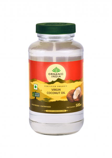 Organic India Ulei de Cocos Virgin Presat la Rece (Raw, Extra) Premium 500ml 0