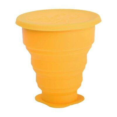 Pahar pliabil pentru igienizarea cupei menstruale galben 225ml 0