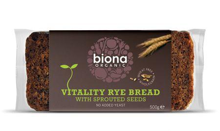 Paine integrala de secara Vitality cu seminte germinate bio 500g 0