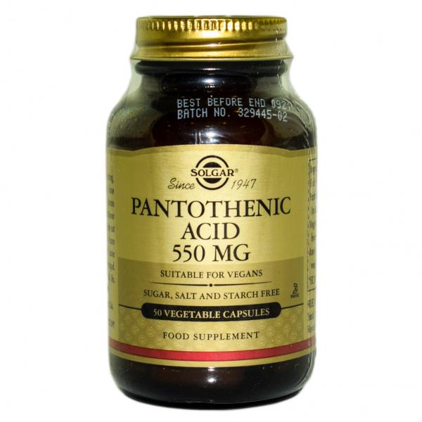 Acid Pantotenic ( Vitamina B5) 550mg veg.50cps SOLGAR 0