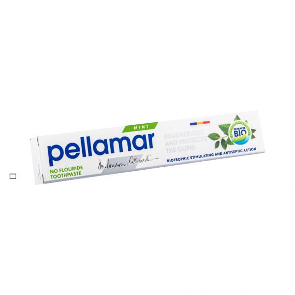 Pastă de dinți fără fluor cu menta, 50 ml, Pellamar [0]