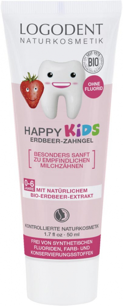 Pasta de dinti gel cu capsuni pentru copii 0