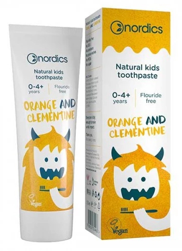 Pasta de dinti naturala pentru copii cu portocale si clementine 50ml Nordics 0