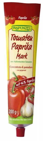 Pasta de tomate bio cu ardei, in tub 0