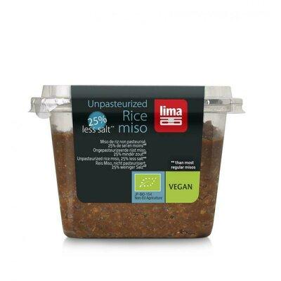 Pasta Miso de orez si soia nepasteurizata cu continut redus de sare eco 300g 0