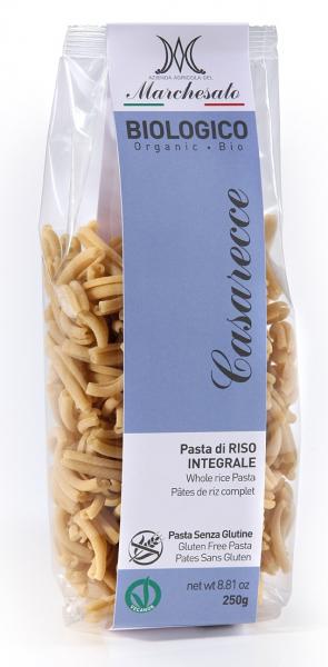 Paste casarecce din orez integral bio fara gluten 250g Marchesato 0