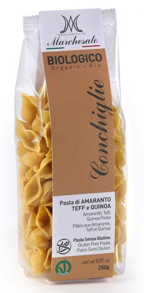 Paste conchiglie din amarant, teff si quinoa bio fara gluten 250g Marchesato 0