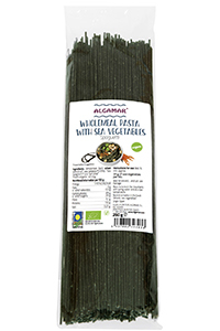 Paste integrale spaghetti cu alge marine bio 250g 0