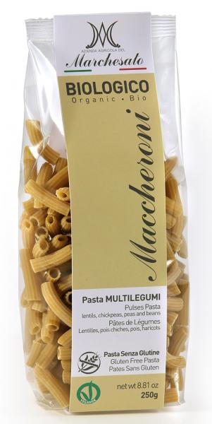 Paste maccheroni cu legume fara gluten 250g Marchesato 0