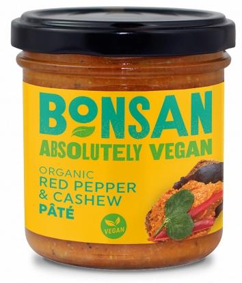 Pate vegetal cu ardei rosu si caju bio 130g Bonsan 0