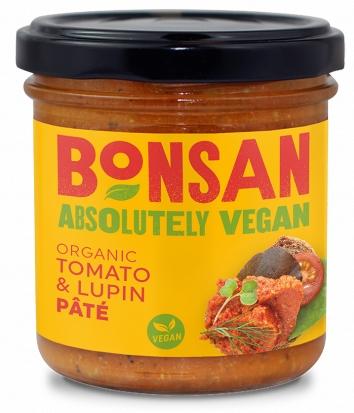 Pate vegetal cu rosii si lupin bio 140g Bonsan 0