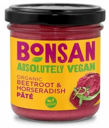Pate vegetal cu sfecla rosie si hrean bio 130g Bonsan 0