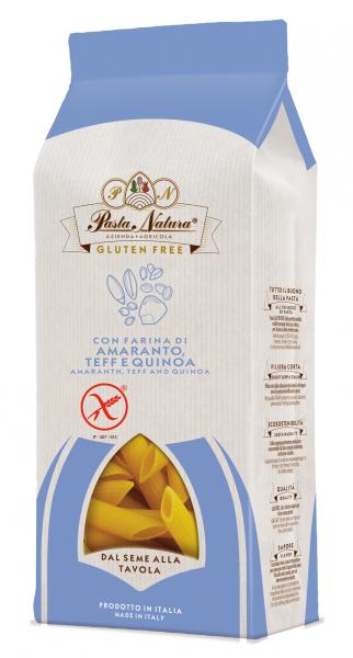 Penne din amarant, teff si quinoa bio, fara gluten 250g Pasta Natura 0