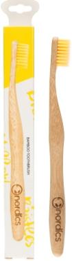 Periuta de dinti pt. adulti din bambus, GALBENA, Nordics 0