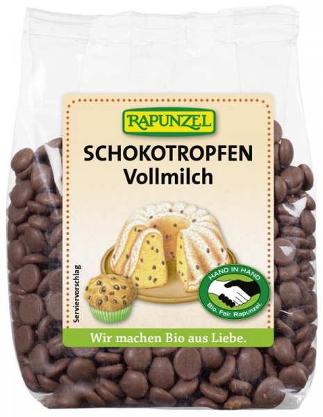 Picaturi de ciocolata bio din lapte integral 0