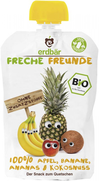 Piure bio de mere, banane, ananas si nuca de cocos 0