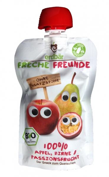 Piure de mere pere si fructul pasiunii bio 100g 0