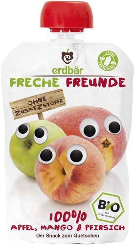 Piure ecologic de mere, mango si piersici 0