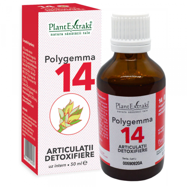 Polygemma 14, Articulații detoxifiere, 50 ml, Plant Extrakt [0]