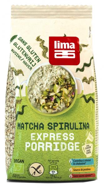 Porridge Express cu matcha si spirulina fara gluten bio 350g Lima 0