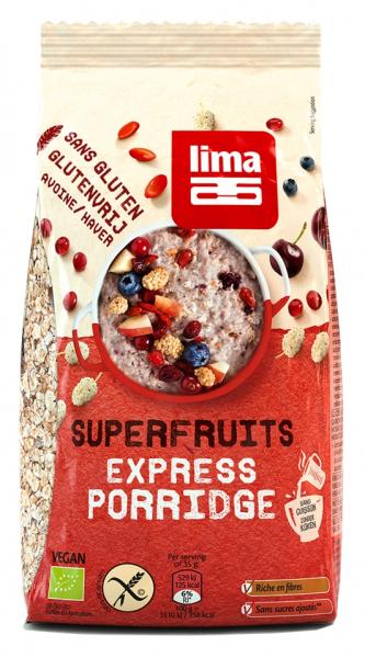 Porridge Express cu superfructe fara gluten bio 350g Lima 0
