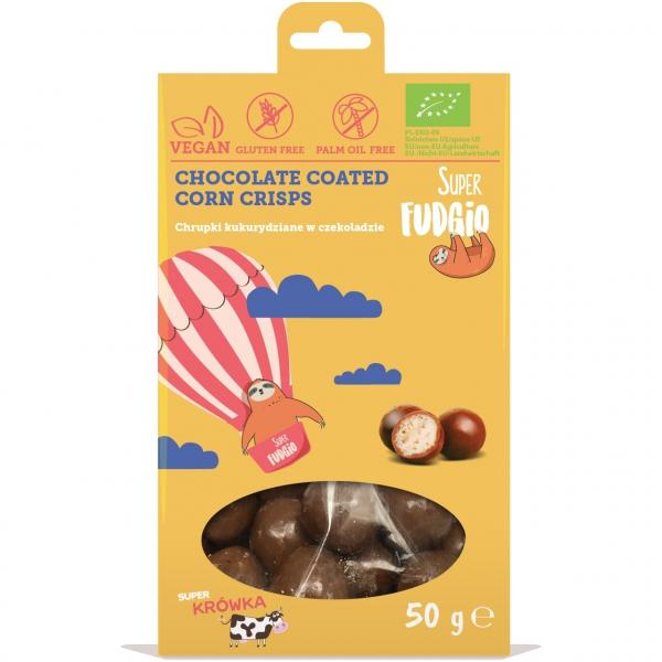 Porumb crispy invelit in ciocolata bio 50g 0