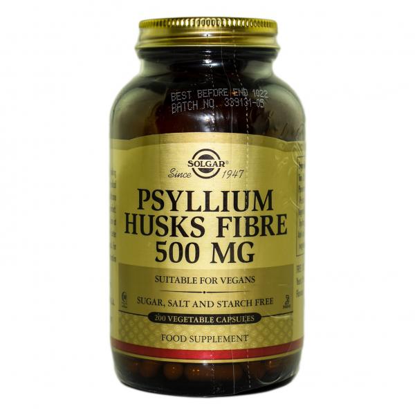 Fibre din coji de Psyllium, 200 capsule, Solgar 0