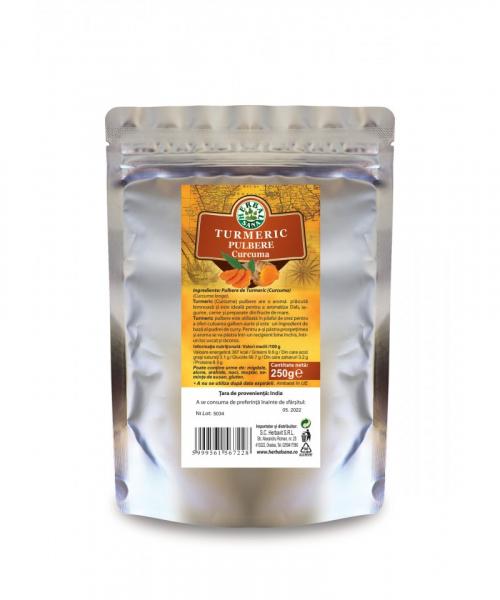 Pulbere de Turmeric, 250 g, Herbavit 0