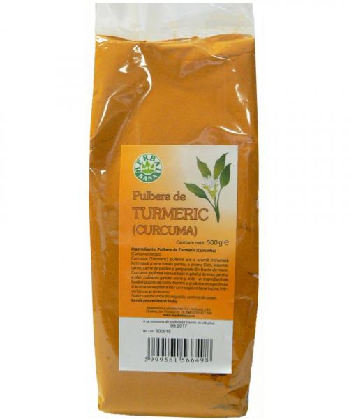 Pulbere de Turmeric, 500 g, Herbavit 0