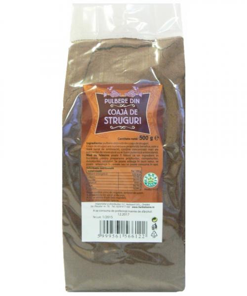 Pulbere din coaja de Struguri, 500 g, Herbavit 0