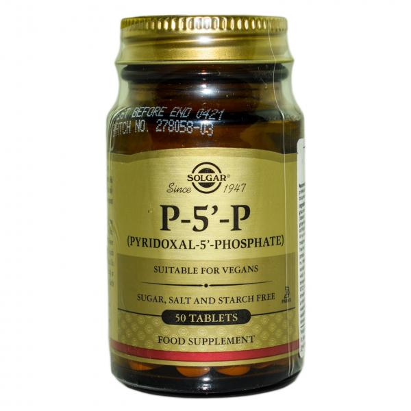 5-fosfat-piridoxal 50mg E/C tabs 50tb SOLGAR 0
