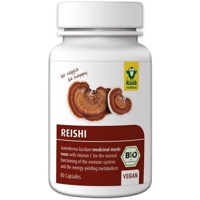 Reishi extract bio 400mg, 80 capsule vegane RAAB 0