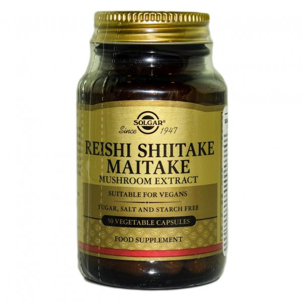 Reishi Shiitake Maitake Extract, 50 capsule, Solgar 0