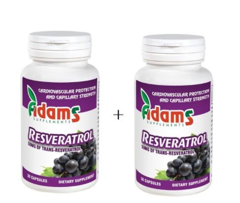 Resveratrol 50mg, 30 capsule, Adams Vision (1+1) 0