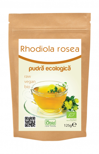 Rhodiola rosea pulbere raw bio 125g 0