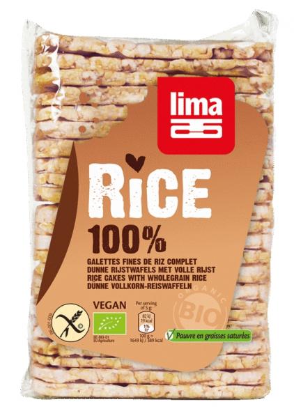 Rondele subtiri rectangulare din orez expandat cu sare bio 130g 0