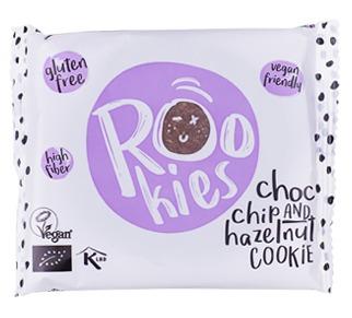 Rookies - cookie cu ciocolata si alune bio 40g 0