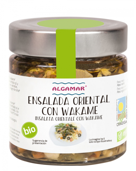 Salata orientala cu alge wakame eco 190g 0