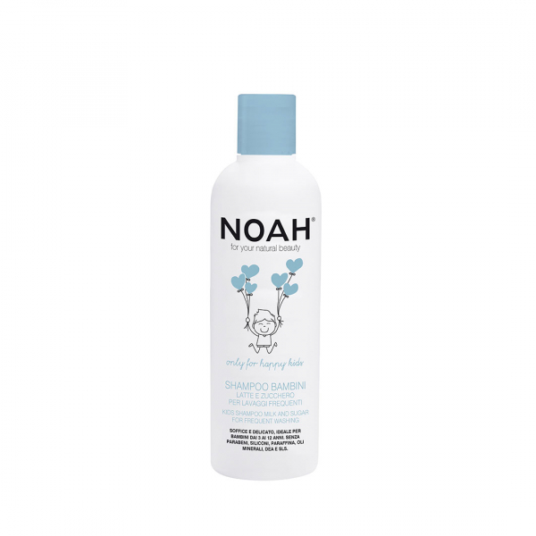 Sampon cu lapte zahar pentru spalare frecventa pentru copii, Noah, 250 ml 0