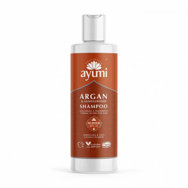 Sampon cu Ulei de Argan Lemn de Santal pentru parul fragil si subtire, Ayumi, 250 ml 0