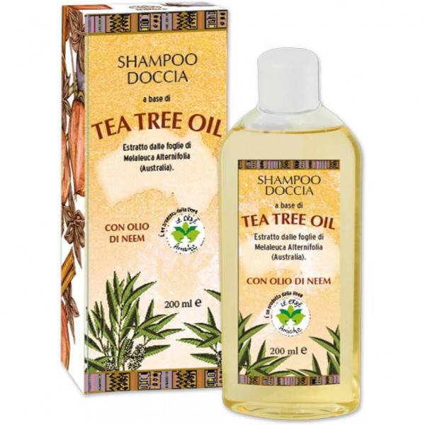 Sampon gel de dus hidratant cu ulei din arbore de ceai si ulei de neem, La Dispensa, 200 ml [0]